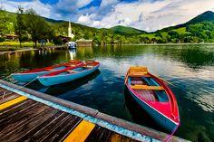 Bavarian boats by Tamara Patrejeva. Schliersee, Bavaria, Germany