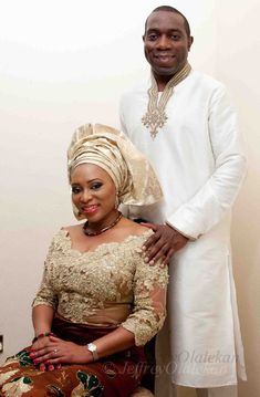 Igbo Weddings - Pictures of real Igbo traditional weddings in Nigeria - Brides and Grooms in Beautiful attires, and the Igbo marriage culture in action. African Wedding Attire, African Attire, African Wear, African Dress, Lace Gown Styles, Blouse Styles, Dress Styles, Blouse Designs, Black Marriage