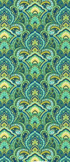 quenalbertini: Green and yellow design Paisley Pattern, Pattern Art, Pattern Design, Green Pattern, Paisley Print, Textile Patterns, Textile Design, Motif Oriental, Hippie Art