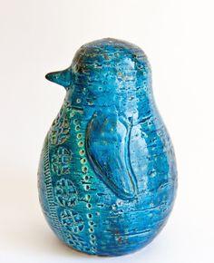 Retro Pottery Net: Bitossi Rimini Blue Penguin retropottery.net