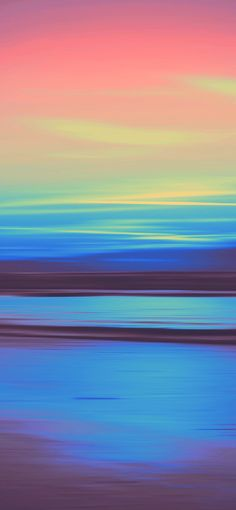 Ocean Sunset Apple iPhone Abstract Wallpapers 1242X2688 | Traxzee