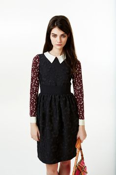 orla kiely fall 2013 by calivintage - love the peter pan collar with print of blouse and textured jumper - versatile pieces