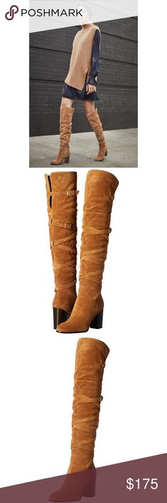 Sam Edelman Boots An over-the-knee boot in a traditional silhouette, this Sam Edelman Sable boot is an excellent addition to your wardrobe. The smooth upper hugs your leg, giving you a sleek profile, while the side-zipper and open back shaft help give you a fitted look. The almond toe looks great when worn under pants or trousers. Or, show off this boot underneath short skirts and dresses. Sam Edelman Shoes Over the Knee Boots