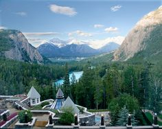 Banff, Alberta, Canada.  Must go back!! Had a drink at this patio restaurant. Most beautiful place ever!!