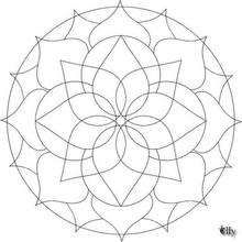 Mandala  19 - Coloring page - MANDALA coloring pages - Mandalas for BEGINNERS