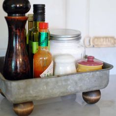 This five minute footed farmhouse tray will add fabulous farmhouse flair to your home in no time and with next to nothing cost!