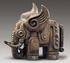 Photo Sculpture Metal, Pottery Sculpture, Horse Sculpture, Elephant Sculpture, Elephant Art, 3d Mode, Sculptures Céramiques, 3d Prints, Ancient Artifacts