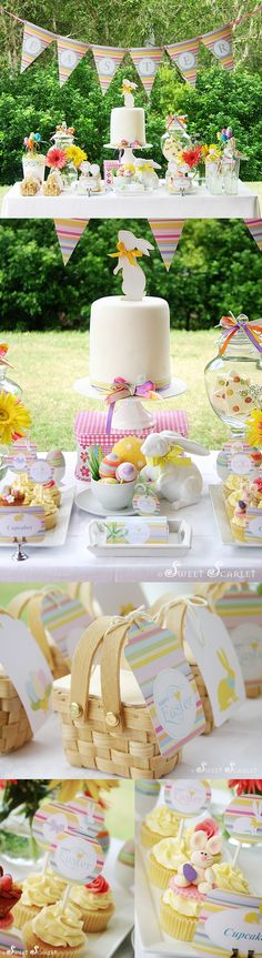 We will always have an Easter party baby, even when our babies get big....they will always want to come home for Easter!  G.