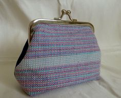 another to add to my collection of bags made with my own woven silk! © Diane Shaw Silks can now be purchased here: https://www.etsy.com/uk/listing/257924942/handwoven-lilac-lavender-purple?ref=shop_home_active_3
