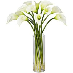 @Overstock - Add elegance to any space with a decorative 20-inch mini calla lily flower arrangement. This silk plant features durable polyester construction and comes in a lovely glass vase.http://www.overstock.com/Home-Garden/Silk-20-inch-Mini-Calla-Lily-Flower-Arrangement/5835994/product.html?CID=214117 $56.05