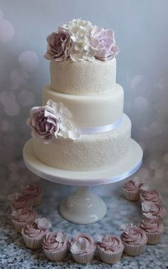 Featured Cake Baking Chick Elegant Purple And White Three Tier Wedding