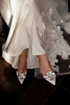 With thirty years experience of dressing brides, where do we find the inspiration to start designing our new capsule bridal couture collection? Bridal Sandals, Bridal Shoes, Wedding Shoes, Bridal Footwear, Couture Collection, Bridal Collection, Dress Collection, Designer Wedding Dresses, Bridal Dresses
