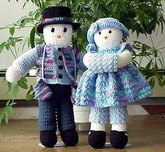 Crocheting : Snowman Doll Frosty $3.99