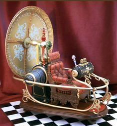 Scale model of the time machine, as used in George Pal's classic movie adaptation...