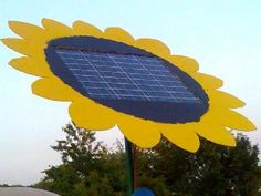 podpads solar panel is a sunflower!