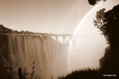 One of our favourite clients, Lori Ann Graham, gives a first hand account of her trip to one of the Seven Wonders of the Natural World: the Victoria Falls. Chutes Victoria, Victoria Falls, Seven Wonders, Holiday Destinations, Natural World, Waterfall, The Incredibles, Nature, Blog