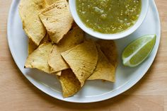 Homemade tortilla chips  Give them about 8 to 11 minutes at 400 degrees, or until golden brown and crispy.