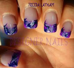 Muddy girl camo in purple! Camo Nail Art, Camouflage Nails, Camo Nails, Nail Art Designs, Pretty Nail Designs, Acrylic Nail Designs, Fingernail Designs, Nails Design, Acrylic Nails