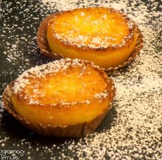 of tenderness: Quejadas of Tangerine and Ricotta Magic Cake Recipes, My Recipes, Sweet Recipes, Dessert Recipes, Cooking Recipes, Favorite Recipes, Finger Food Desserts, Mini Desserts, Portuguese Desserts