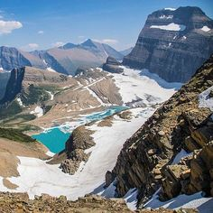 """@cmferrante writes """"Hiking the Highline Trail would be incomplete without the trek up to the Grinnell Glacier overlook. Without question one of the best trails..."""" How many out there would agree? What is your favorite hike in Glacier? Thanks for posting and keep tagging #GlacierNPS! by glaciernps"""