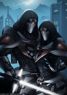 [C] Zi'alitor and Sultana by hannelArt on DeviantArt Star Wars Characters Pictures, Star Wars Images, Star Wars Concept Art, Star Wars Fan Art, Star Wars Rpg, Star Wars Jedi, Sith, Jedi Armor, Cyberpunk