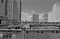 Chicago Prints   Silver City Black and White     8 x by tracybragg, $25.00