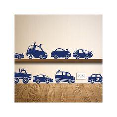 Muursticker matchbox autootjes bestaat uit 12 stickers en heeft een afmeting van 15 tot 17 cm, is beschikbaar in 20 kleuren.