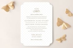 A Glamorous Affair Wedding Invitations