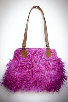 Sneak peek ... mohair handbag coming soon #fashion