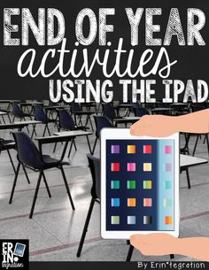 7 creative End of Year activities & projects using the iPad at all levels of SAMR. K-5. All free apps too!
