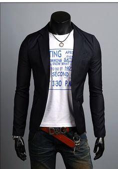 Wholesale KOREAN Mens Slim Fit Premium One Button Jacket Blazer
