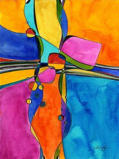 Abstract Watercolor painting by Kathy Morton Stanion - kathymortonstanion.com #abstractart