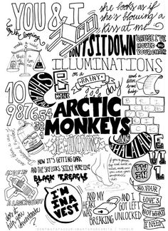 Arctic Monkeys typography illustration |