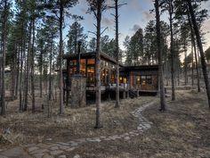 Hill City lodge rental - Glass Lodge near Keystone at Dusk