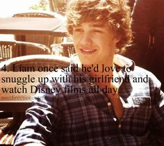 It's amazing.. i was just thinking how i sould love to watch disney movies all day snuggling up with Liam... weird (;