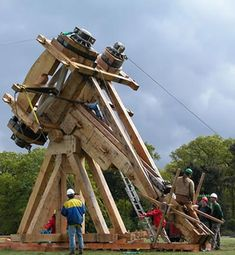 Peck, D., Discovery Channel (Firm), Discovery Channel Video (Firm), & British Broadcasting Corporation. (2003). Building the impossible: Roman catapult. Great Britain: BBC.        Nuff said!   watch the video!
