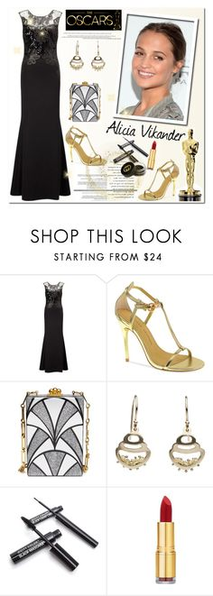 """""""Oscar Red Carpet: Go Glam!"""" by helenevlacho ❤ liked on Polyvore featuring Vanity Fair, ECCO, Chinese Laundry, Edie Parker, Isaac Mizrahi, Gucci, contestentry, oscarfashion, aliciavikander and oscar2016"""