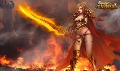 wallpaper, league of angels Warrior Girl, Angel Warrior, Warrior Women, Fantasy Characters