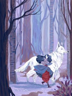 Luthien on her way to save her little mister in distress, with the help of fluffiest dog in arda. Hold tight Beren, there's an extremely fluffy dog coming for you.