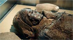 Múmia da cultura Chinchorro, localizada no deserto de Atacama, que se estende do norte do Chile até o sul do Peru. Região considerada a mais seca e a cultura a mais velha do planeta. Ali foram descobertas, em 1917 por Federico Max Uhle arqueólogo alemão, as múmias mais antigas do mundo com mais de 7 mil anos. Em 1983, a companhia de água Arica, ao realizar perfurações no deserto, encontrou um cemitério com 96 múmias Chinchorro.