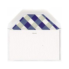mint + lapis gingham stationery from stripe & field