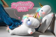 Light Up Unicorn Slippers: Cozy, colorful slippers with LED lights.