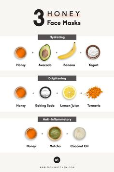 Three easy, homemade face masks made with powerful manuka honey! These DIY honey face masks are perfect for hydrating, brightening, or getting a boost of antioxidants. #facemasks #selfcare #diy #beauty #skincare #naturalskincare Baking Soda Lemon Juice, Beauty Hacks For Teens, Hydrating Mask, Moisturizing Face Mask, Homemade Skin Care, Homemade Facials, Diy Skin Care, Tips Belleza, Diy Mask