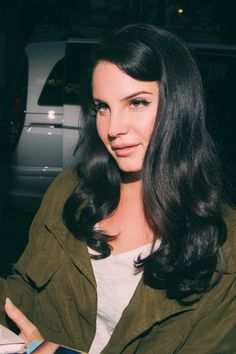 Lana Del Rey in Green Army Jacket