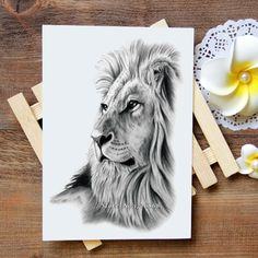 [Visit to Buy] Waterproof Temporary Tattoo Sticker lion tattoo Water Transfer Flash Tattoo fake tattoo for women men kids #724 #Advertisement
