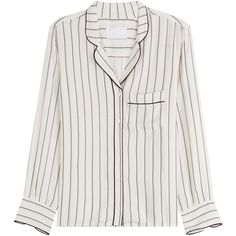 Zadig & Voltaire Striped Button-Down Blouse (€140) ❤ liked on Polyvore featuring tops, blouses, shirts, stripes, button up shirts, long-sleeve shirt, button down blouse, stripe shirt and shirt blouse