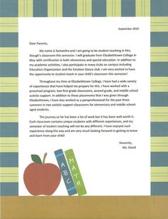 letter of introduction teacher student ms hedrick introduction letter 34885