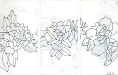 Flower 31 by Andy Anh Ha 3 Piece Painting Print on Wrapped Canvas Set