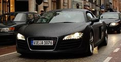 Matte black Audi A5, my soul twinged a little