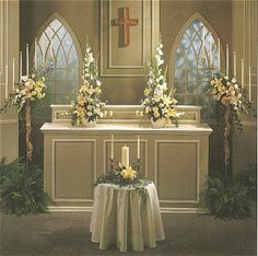 church altar decorations for weddings simple church altar decorated in white roses amp peonies for 2940